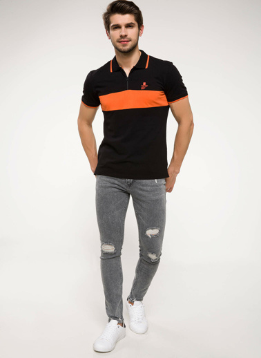 DeFacto Slim Fit Polo T-shirt Siyah